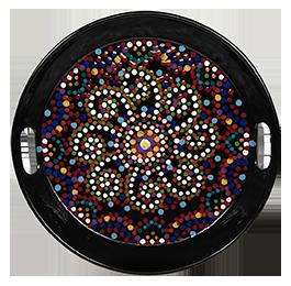 Crest View Hills Mosaic Mandala Tray