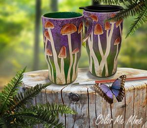 Crest View Hills Mushroom Mugs