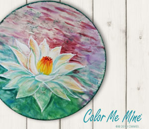 Crest View Hills Lotus Flower Plate