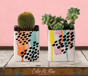 Crest View Hills Drippy Square Planters