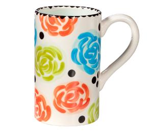 Crest View Hills Simple Floral Mug