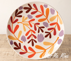 Crest View Hills Fall Floral Charger