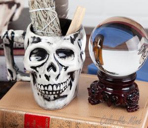 Crest View Hills Antiqued Skull Mug