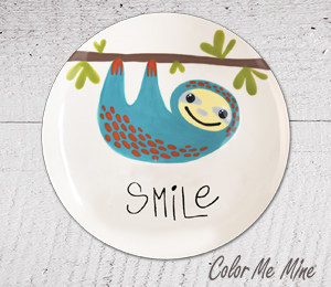 Crest View Hills Sloth Smile Plate