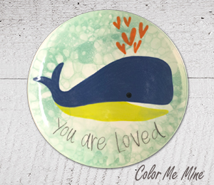 Crest View Hills Whale Love Plate