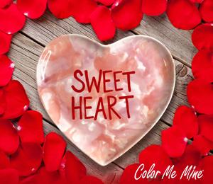 Crest View Hills Candy Heart Plate