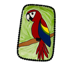 Crest View Hills Scarlet Macaw Plate